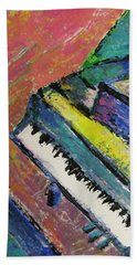 Piano With Yellow Bath Towel