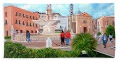Piazza Mola Di Bari Bath Towel