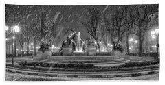 Bath Towel featuring the photograph Piazza Solferino In Winter-1 by Sonny Marcyan