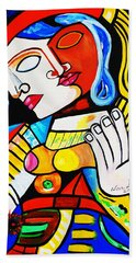 Picasso By Nora Turkish Man Bath Towel by Nora Shepley
