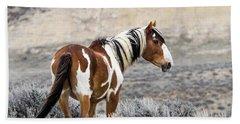 Picasso - Wild Mustang Stallion Of Sand Wash Basin Bath Towel