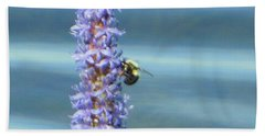 Pickerelweed Bumble Bee Hand Towel