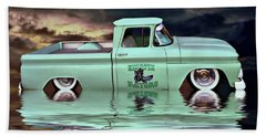 Bath Towel featuring the photograph Pickup Reflections by Steven Agius