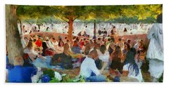 Picnic In The Park Hand Towel by Aleksander Rotner