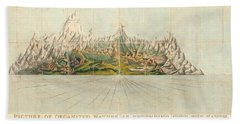 Picture Of Organized Nature As Extending Over The Earth - Geological Illustration - Old Atlas Bath Towel