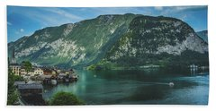 Picturesque Hallstatt Village Hand Towel