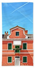 Picturesque House In Burano Hand Towel