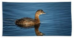 Hand Towel featuring the photograph Pied Billed Grebe by Randy Hall