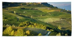 Bath Towel featuring the photograph Piemonte Countryside by Brian Jannsen