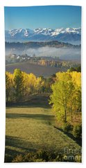 Hand Towel featuring the photograph Piemonte Morning by Brian Jannsen