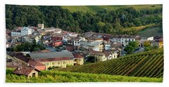 Bath Towel featuring the photograph Piemonte Panoramic by Brian Jannsen