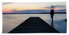 Pier At Sunset 16x20 Hand Towel