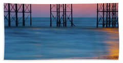 Pier Supports At Sunset I Bath Towel