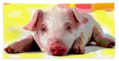 Pig In A Poke Hand Towel by Charles Shoup