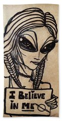 Pigtalien Girl Hand Towel