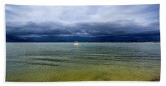 Pike's Beach Storm Approaching Bath Towel