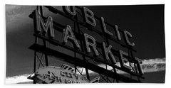 Pikes Place Market Sign Bath Towel