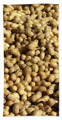 Pile Of Peanuts Hand Towel by Bonnie Muir