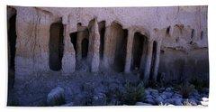 Pillars And Caves, Crowley Lake Bath Towel