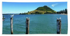 Pilot Bay Beach 3 - Mt Maunganui Tauranga New Zealand Bath Towel
