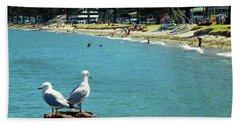 Pilot Bay Beach 4 - Mount Maunganui Tauranga New Zealand Hand Towel