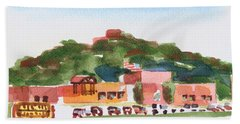 Hand Towel featuring the painting Pilot Knob Mountain W402 by Kip DeVore