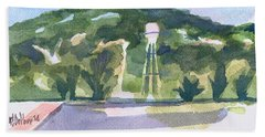 Hand Towel featuring the painting Pilot Knob Mountain W404 by Kip DeVore
