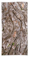Bath Towel featuring the photograph Pine Bark Abstract by Christina Rollo