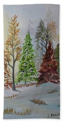 Hand Towel featuring the painting Pine Cove by Jack G Brauer