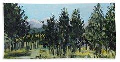 Pine Landscape No. 4 Bath Towel