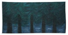 Pine Tree Lake Bath Towel