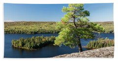 Bath Towel featuring the photograph Pine Tree With A View by Elena Elisseeva