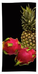 Bath Towel featuring the photograph Pineapple And Dragon Fruit by David French