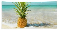 Hand Towel featuring the photograph Pineapple Beach by Sharon Mau