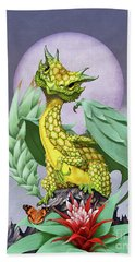 Hand Towel featuring the digital art Pineapple Dragon by Stanley Morrison