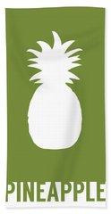 Pineapple Food Art Minimalist Fruit Poster Series 010 Hand Towel