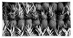 Pineapples In B/w Hand Towel