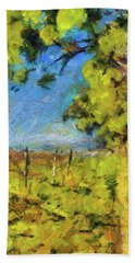 Pines And Vineyard Hand Towel