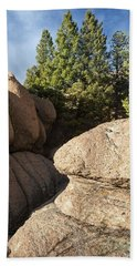 Pines In Granite Bath Towel