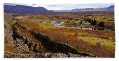 Pingvellir National Park Iceland Hand Towel