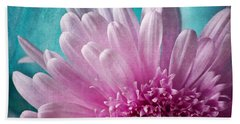 Bath Towel featuring the photograph Pink And Aqua by Dale Kincaid