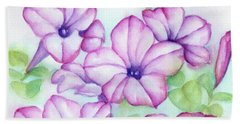 Pink And Purple Hand Towel