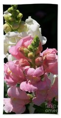 Bath Towel featuring the photograph Sweet Peas by Eunice Miller