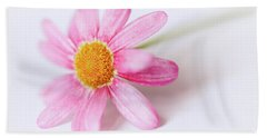 Hand Towel featuring the photograph Pink Aster Flower II by Nick Biemans