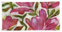 Pink Azaleas Hand Towel by Julie Maas