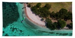 Hand Towel featuring the photograph Pink Beach Island, Flores by Pradeep Raja PRINTS
