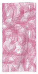 Pink Bliss Abstract Bath Towel
