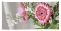Hand Towel featuring the photograph Pink Blooms Love by Kim Hojnacki