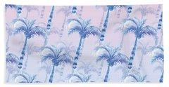 Pink Blue Palm Tree Grove Hand Towel