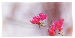 Pink Bougainvillea Flowers In Sunlight Hand Towel